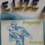 Elize répéter danse encre pinceau