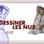 dessin nus modele vivant Elize esquisse couleur peinture