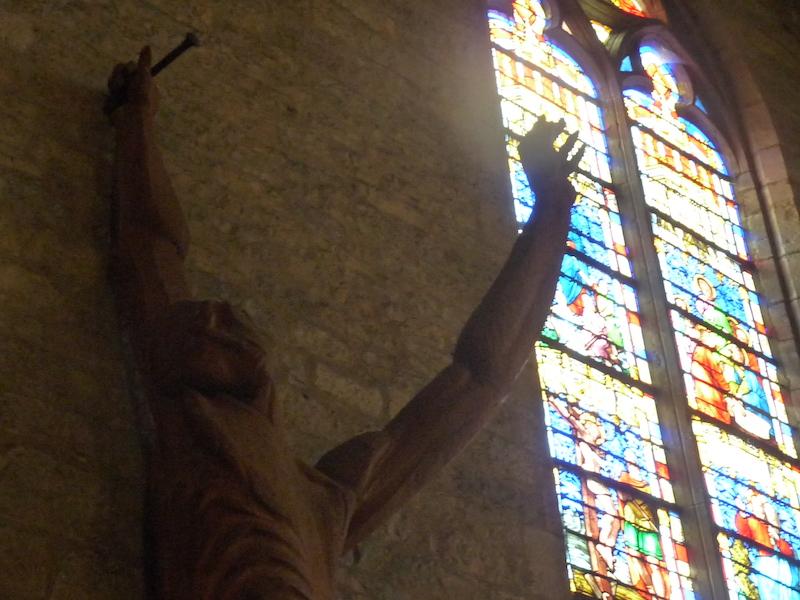 zadkine christ tête vitrail main caylus