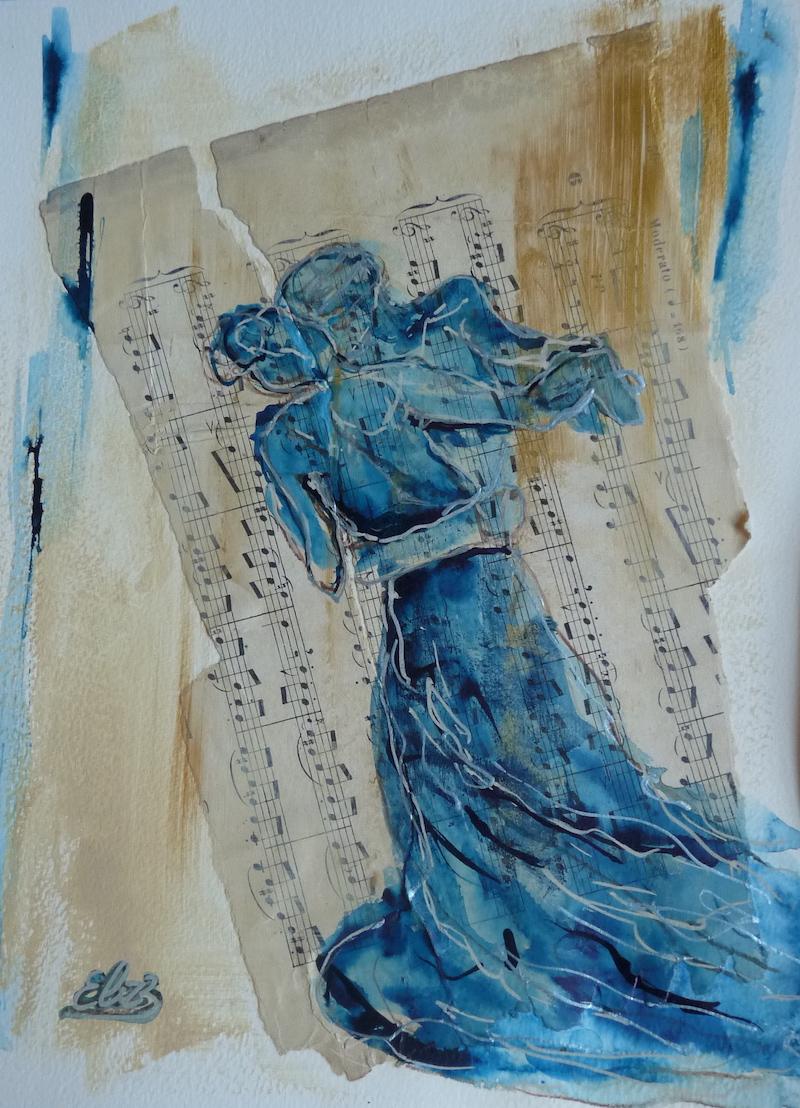 valse Camille Claudel esquisse d'Elize sur papier à musique