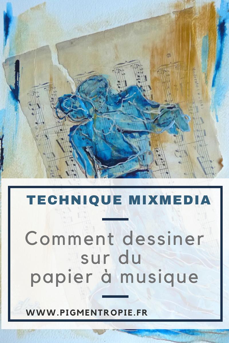 papier musique création mixmedia avec du upcycling technique artiste