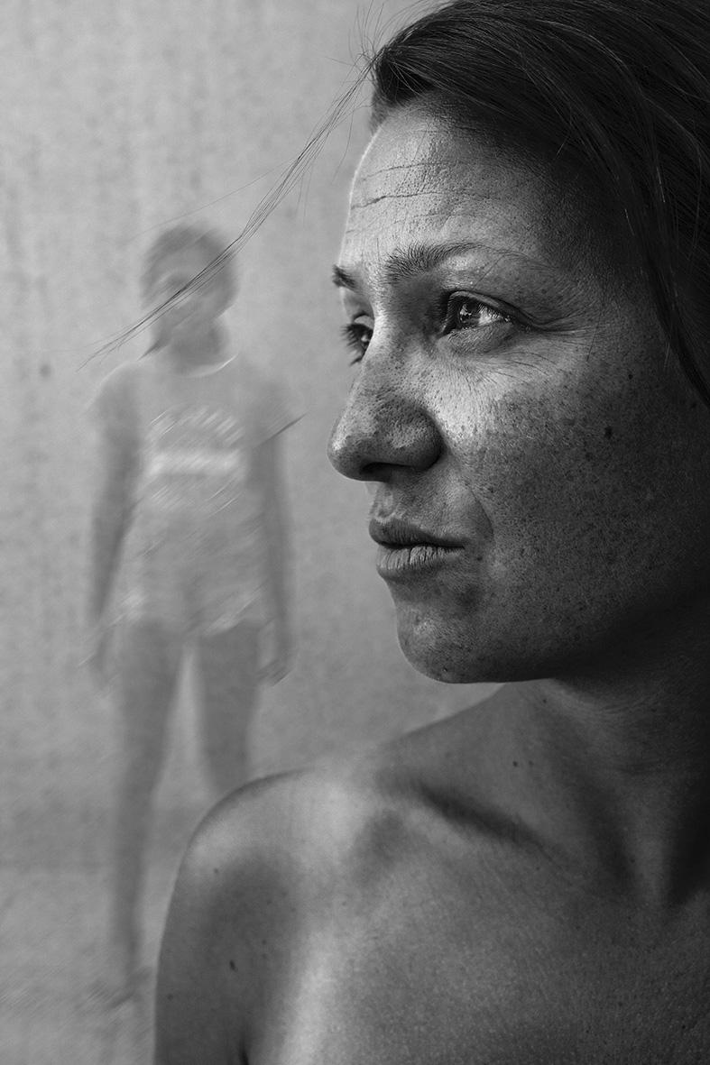 portrait noir et blanc bernard brise photographe montage