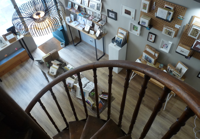 escalier bokheli carteriez art peinture boutique artiste bordeaux Elize pigmentropie