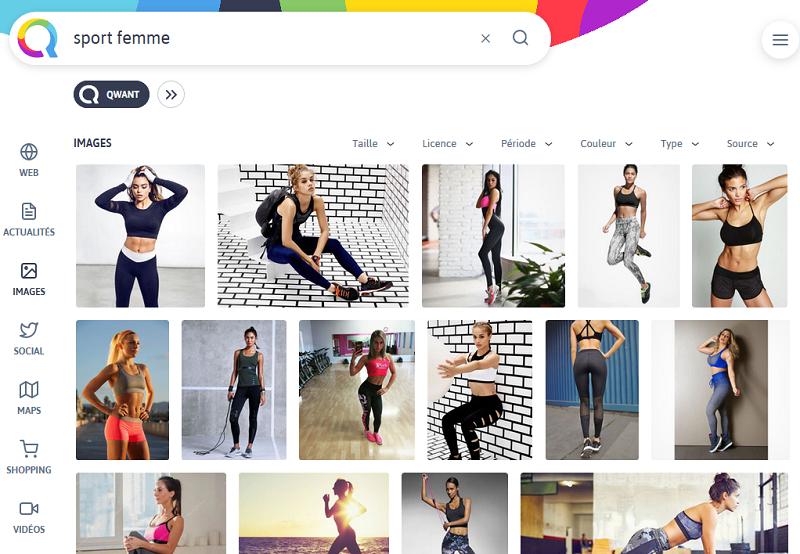 recherche qwant sport femme