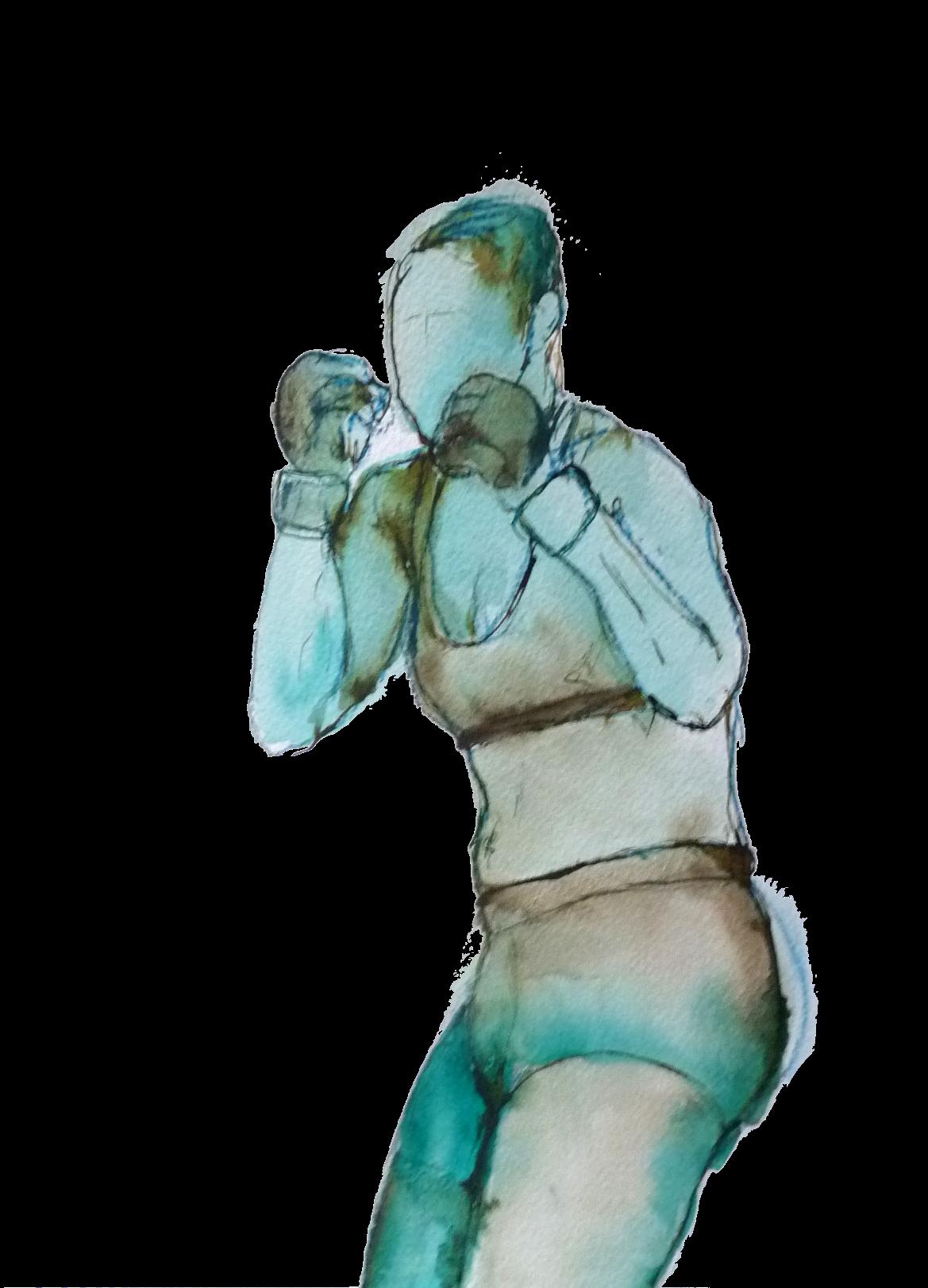 combat mma boxe dessin Elize pigmentropie sport féminin