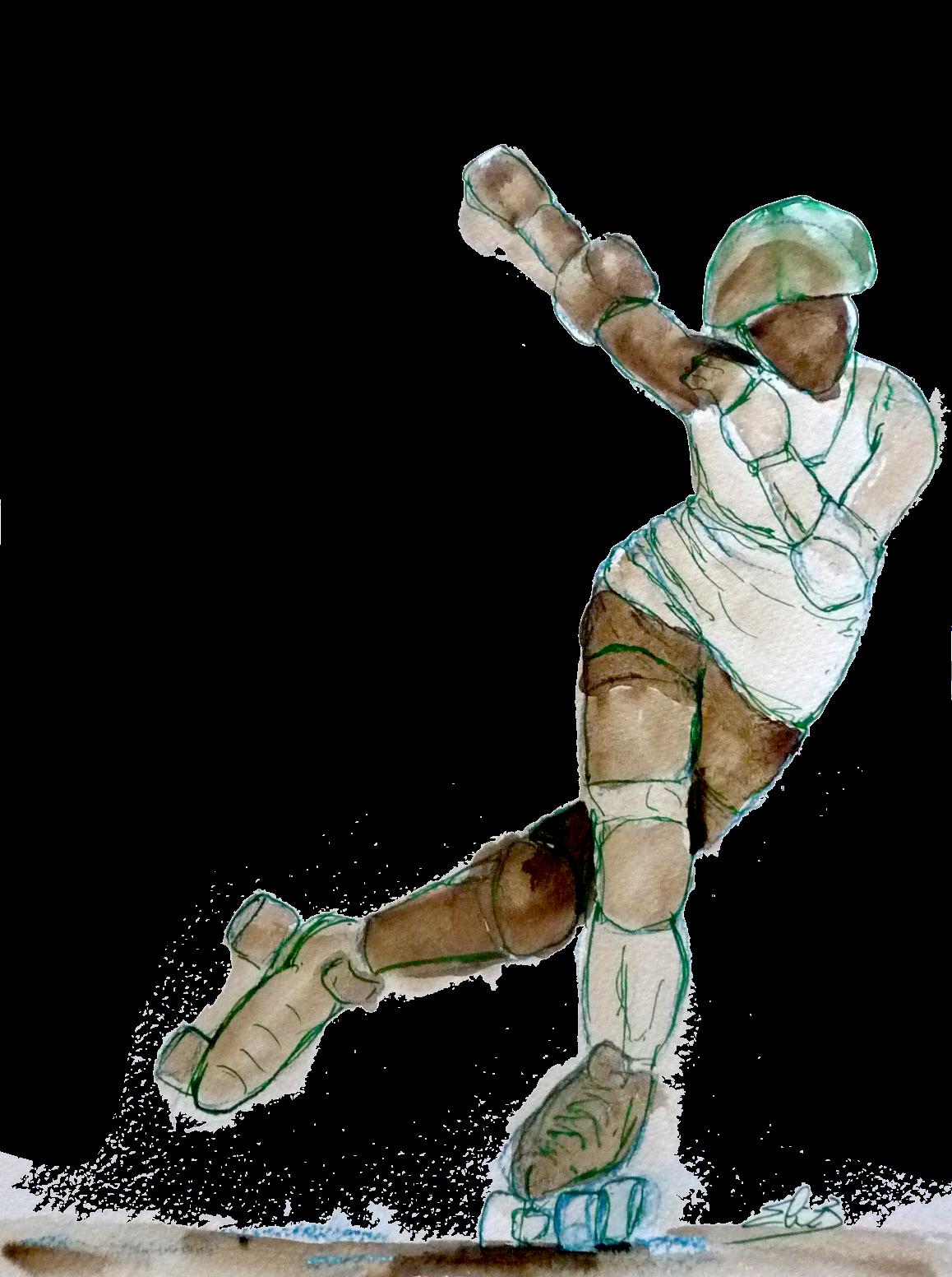 derby roller dessin Elize pigmentropie sport féminin