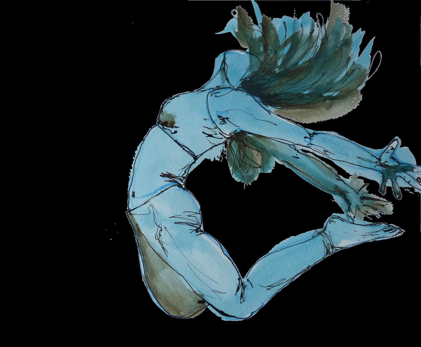 saut danse dessin Elize pigmentropie sport féminin