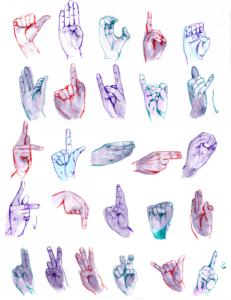 alphabet dessiné langue des signes francais pigmentropie