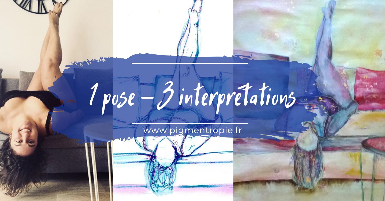 Une pose – 3 interprétations artistiques