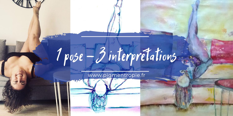 une pose trois oeuvres artistiques pigmentropie