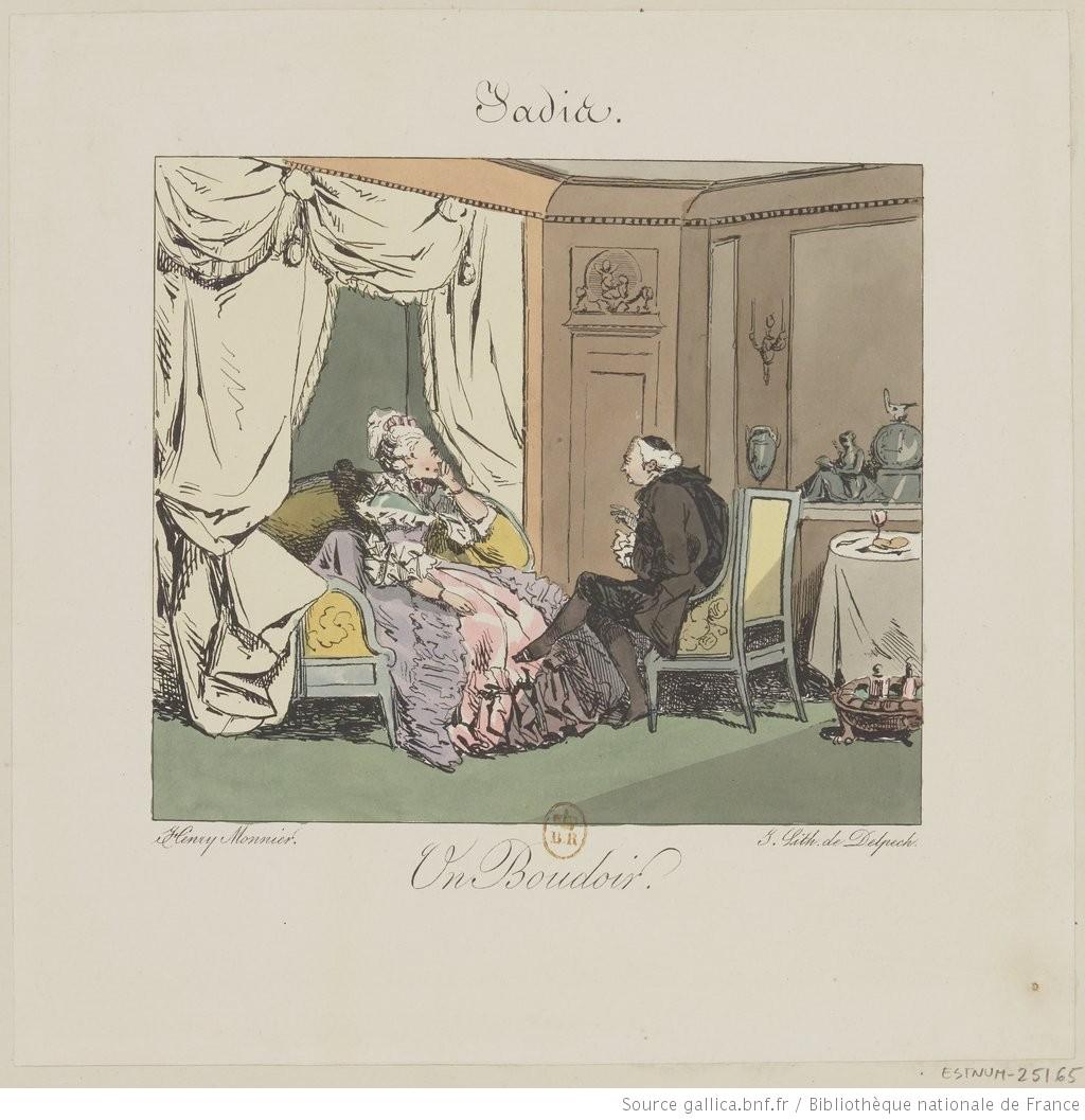 boudoir gravure archive salon époque costume