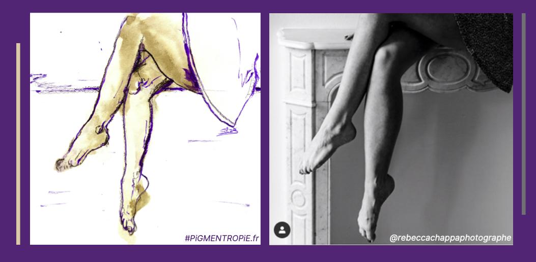 jeu de jambes esquisse comparaison photo dessin jupe femmes