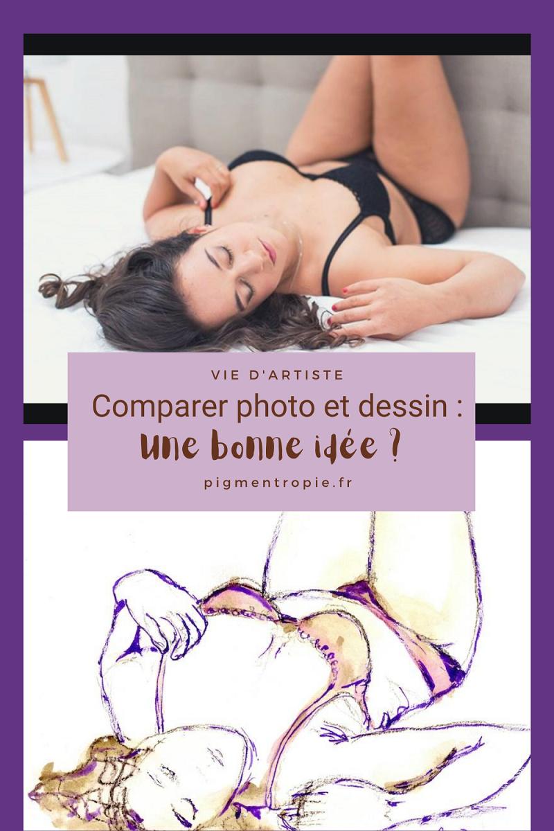 comparer photo et dessin d'artiste boudoir