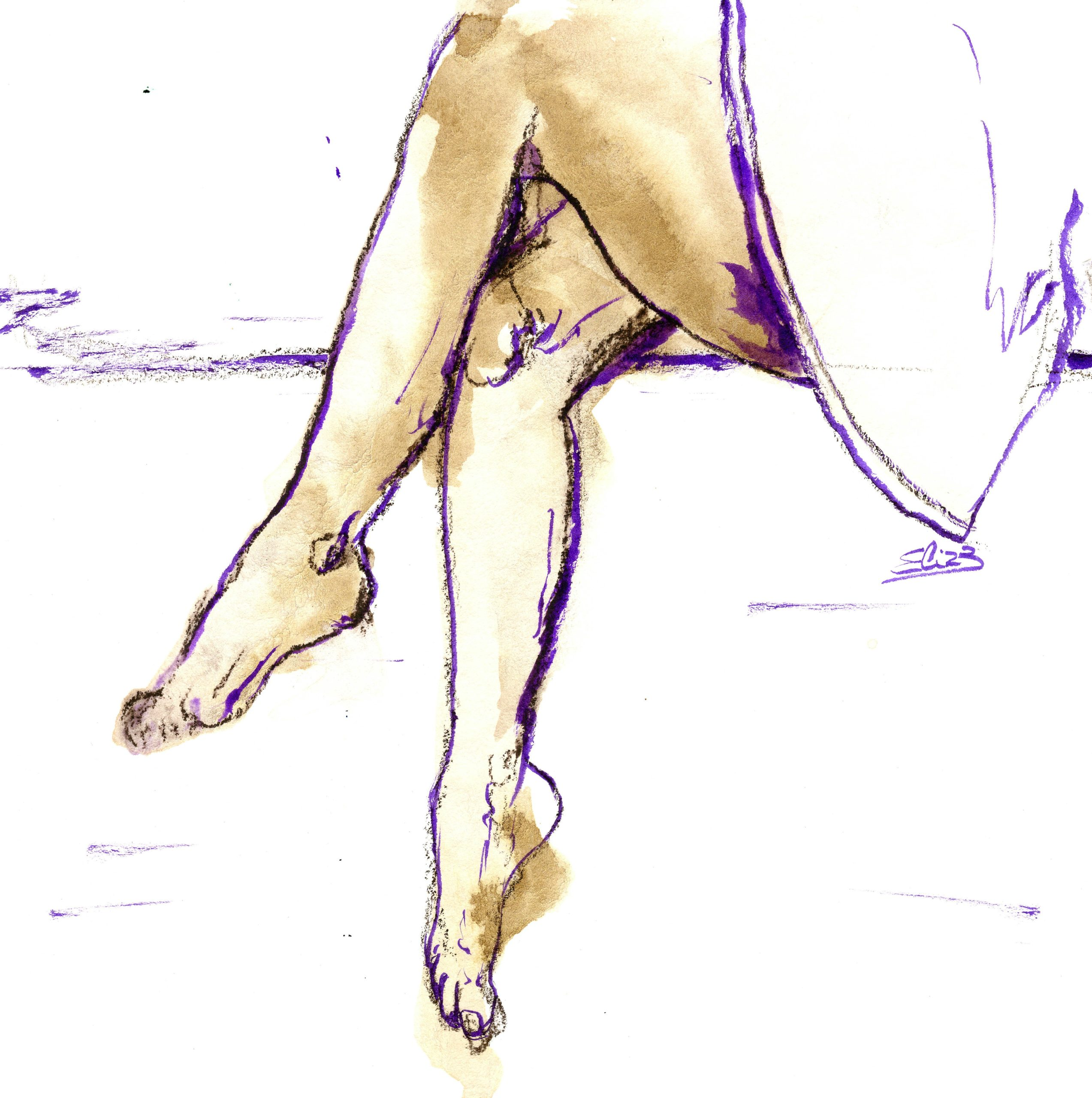 esquisse jeu de jambes jupe Elize pigmentropie