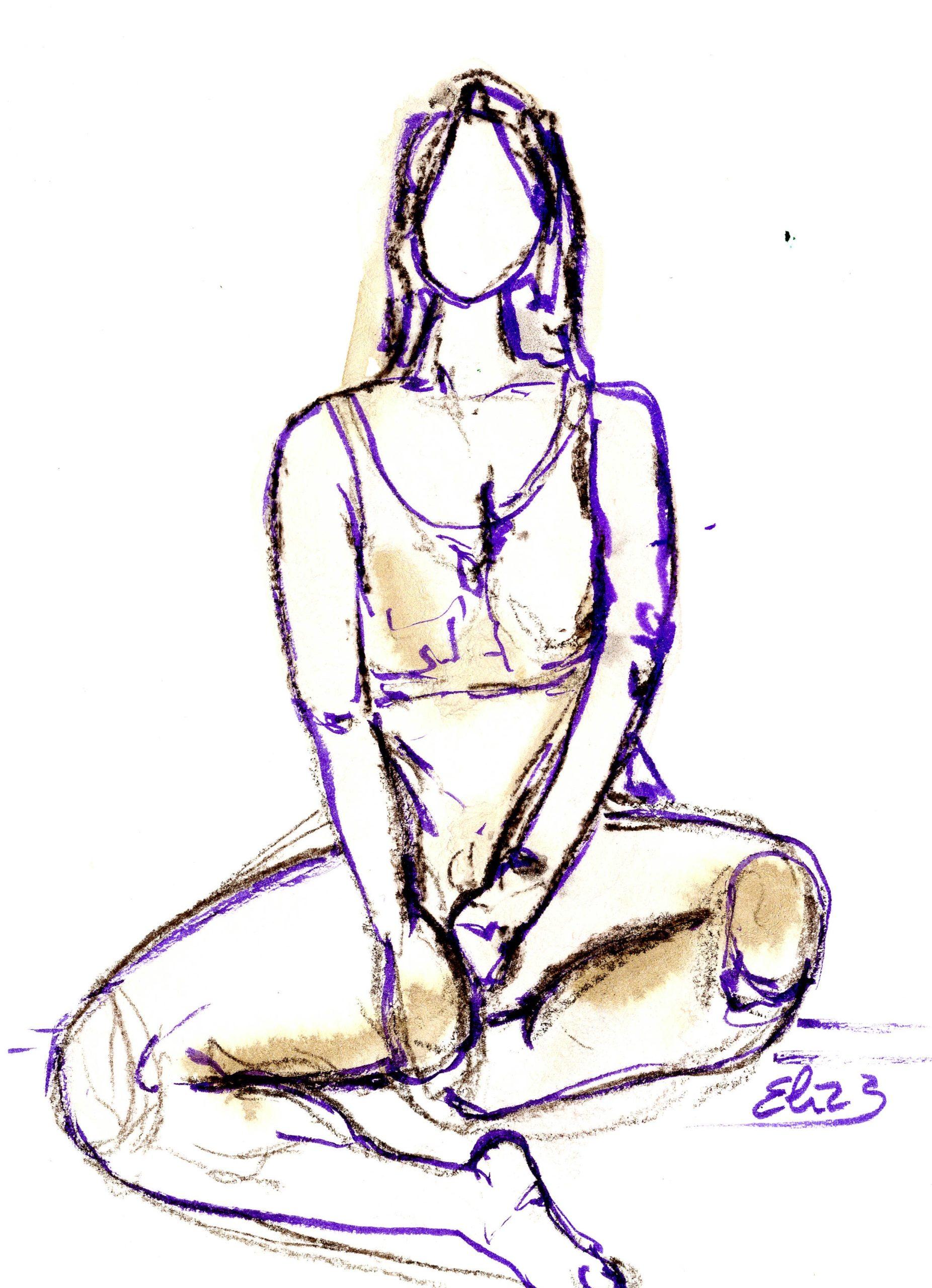 esquisse Elize pigmentropie sensualité