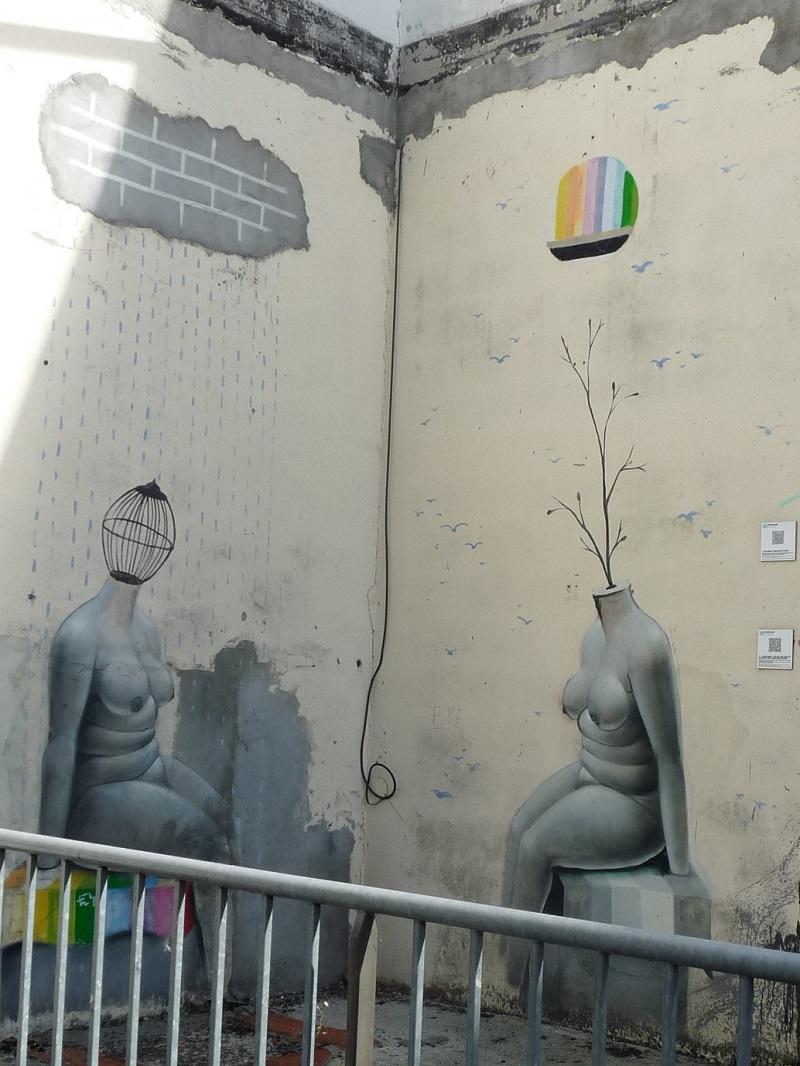 okuda street art pessac bellegrave