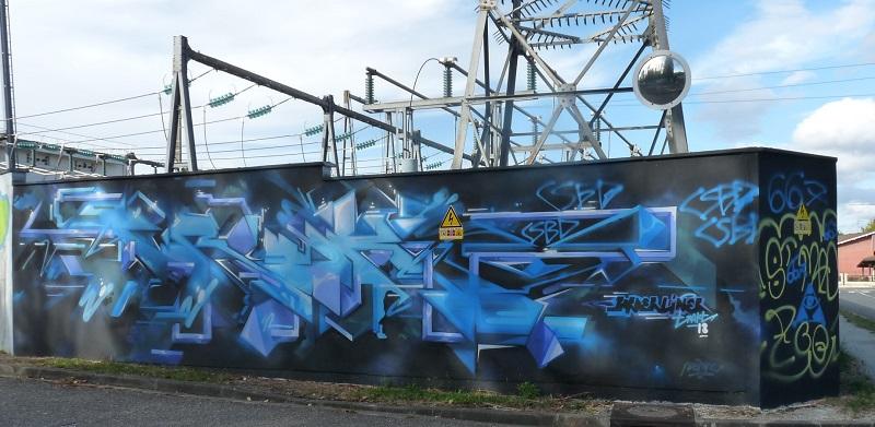 enedis street art pessac