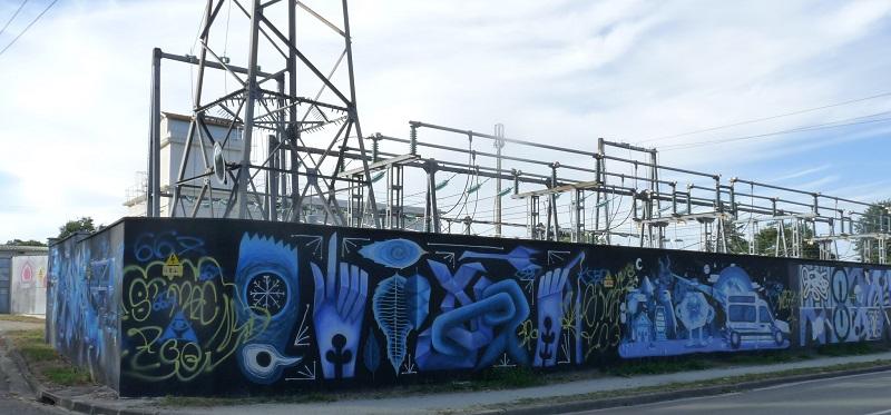 enedis pessac street art transformateur