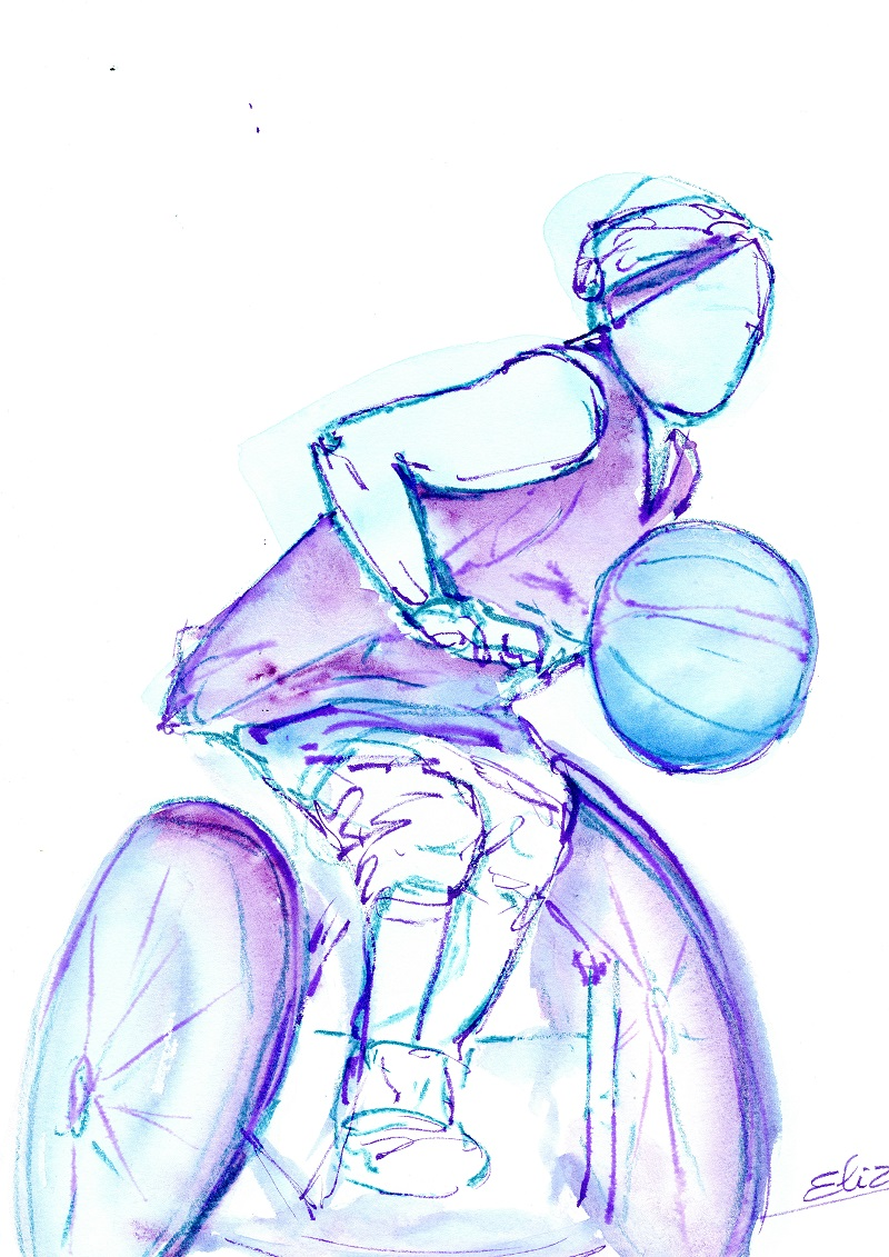 image positive des femmes par le sport et le handicap illustration par pigmentropie