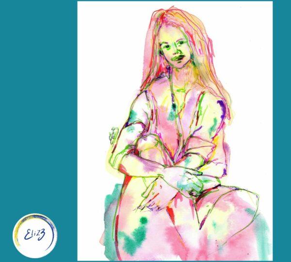elize portrait aquarelle