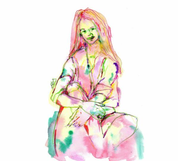 portrait femme colorée elize artistique