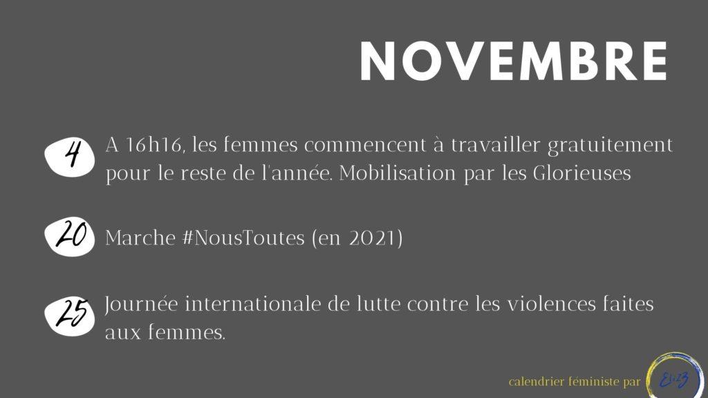 novembre féministe