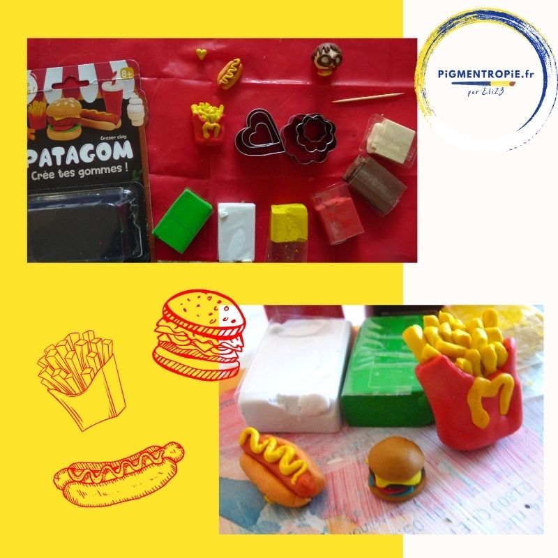 patagom burger hot dog frite