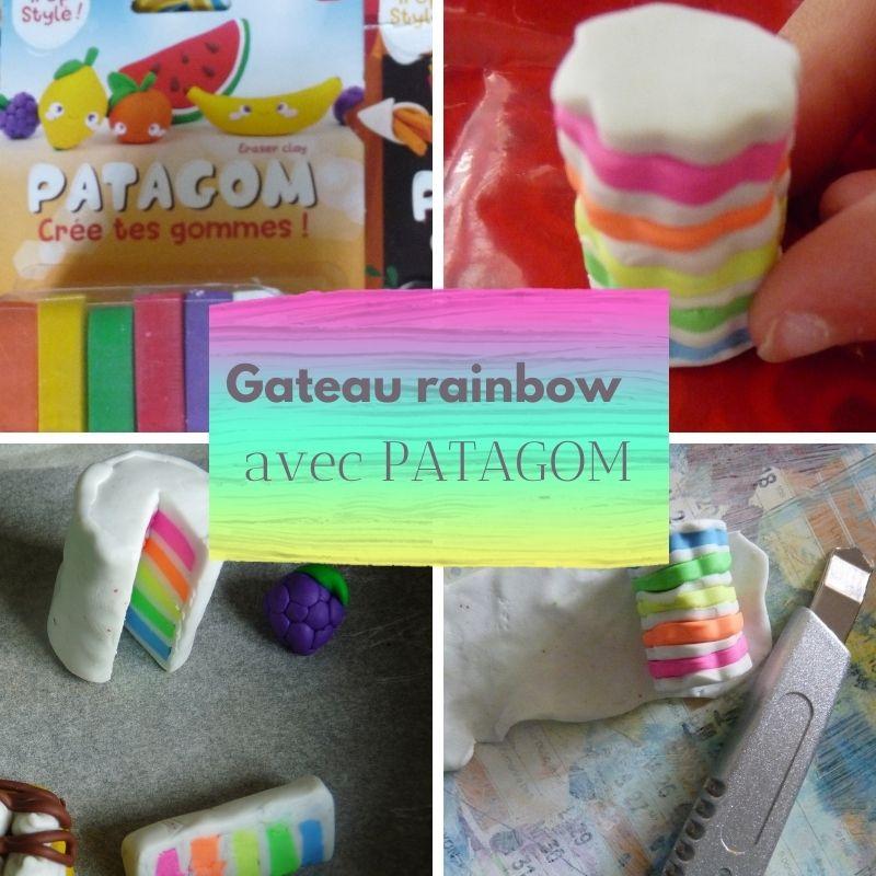 gateau rainbow modelage patagom