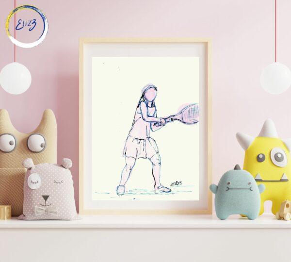 affiche tennis pour fille
