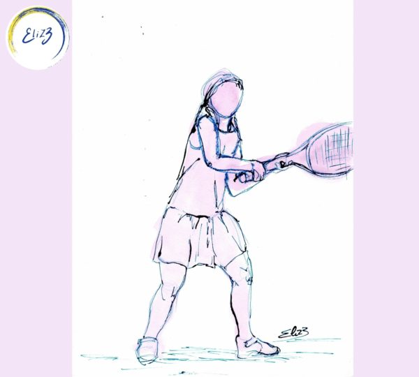 revers tennis enfant dessin