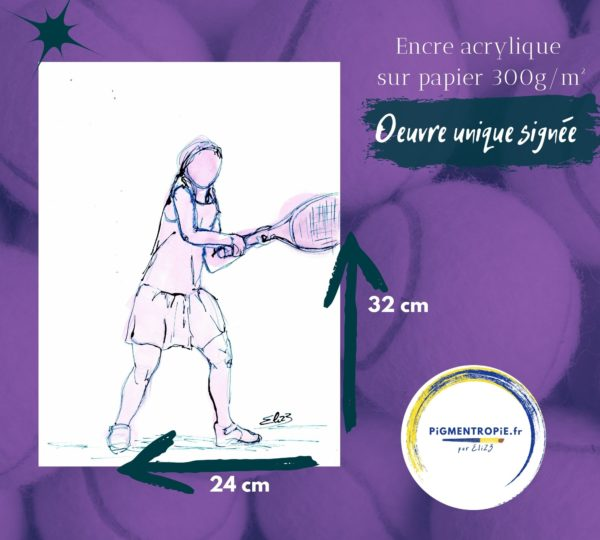 fille tennis revers dimension oeuvre elize
