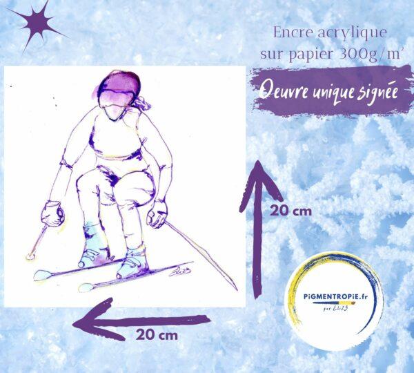 ski au féminin dimension art