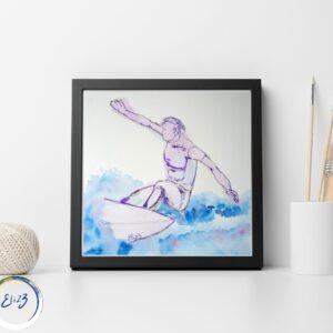 surf cadre décoration moderne