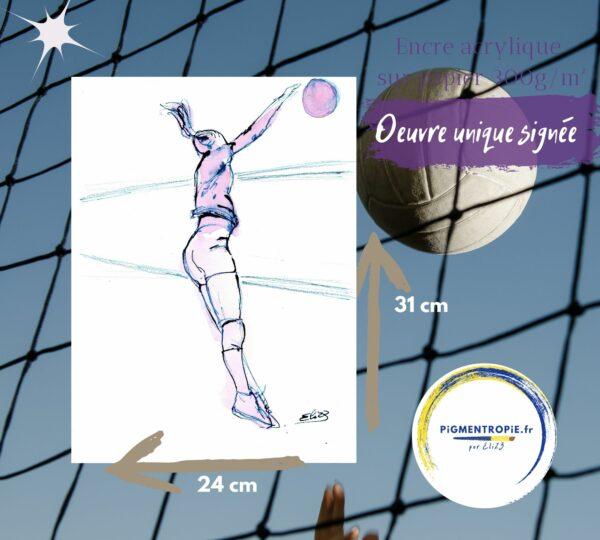 volley ball artistique
