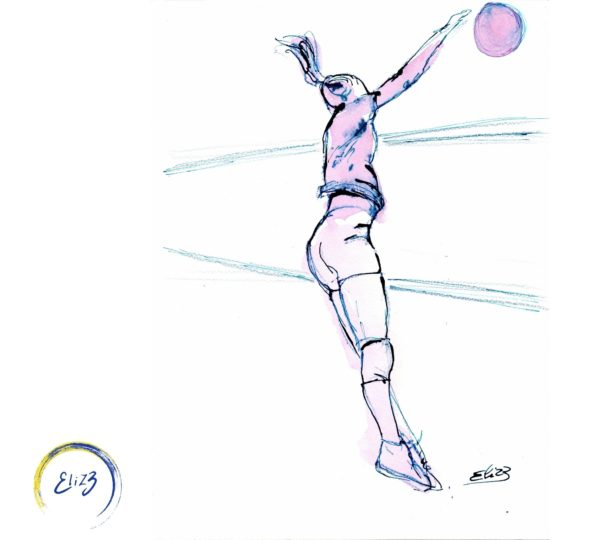 volley vall dessin