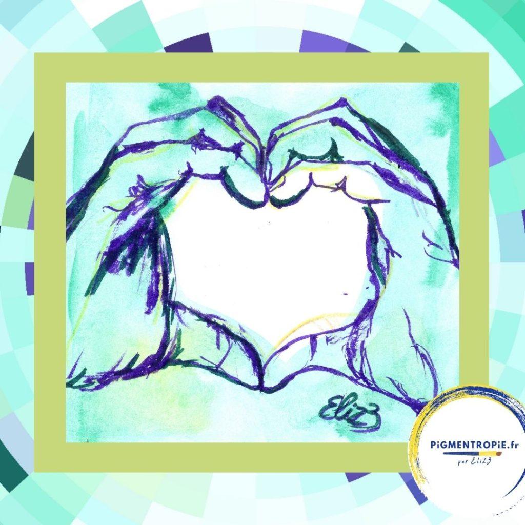 dessin coeur avec les mains dessin elize
