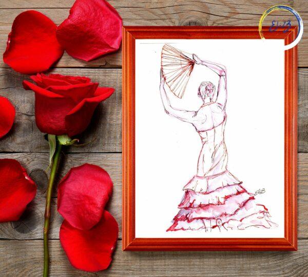 art encadré flamenco espagnol danse
