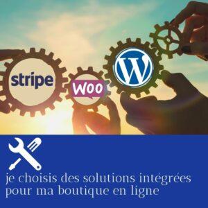 solutions intégrées pour boutique en ligne